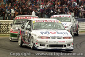 97727 - P. Brock / M. Skaife  - L. Perkins / R.Ingall - C. Lowndes / G. Murphy   - Holden  Commodore VS - Bathurst 1997 - Photographer Ray Simpson