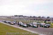 63575 - Start of the 1963 Sandown International - T. Maggs Lola - J. Brabham Brabham - B. McLaren Cooper - Photographer Peter D Abbs