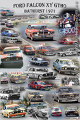 Ford Falcon XY GTHO - A collage of the Phase 3 Falcons that raced at Bathurst in 1971