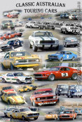 391 - A collage of Classic Australian Touring Cars