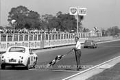62427 - Les Howard Austin Sprite - Sandown 1962 - Photographer Peter DAbbs