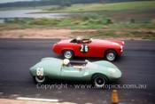 63414 - Mick McGuin, Elfin Mallala & Austin Healey Sprite - Lakeside 1963 - Photographer John Stanley