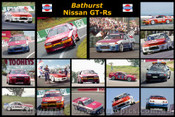 386 - Nissan GT-Rs at Bathurst - A collage of 16 photos