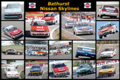 387 - Nissan Skylines at Bathurst - A collage of 16 photos