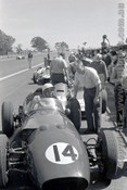 62554 - Lex Davison, Aston Martin DBR4 - Sandown 1962 - Photographer  Peter D'Abbs