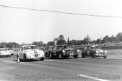 64104 - B. Jane, Jaguar / N. Beechey, Mustang / P. Manton Morris Cooper S - Warwick Farm 1964