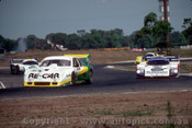 84426 - Allan Grice and Dick Johnson, Chev Monza and the Porsche 956T's - Final Round of the World Sports Car Championship - Sandown 1984 - Photographer Peter D'Abbs