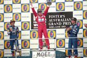 93514 - Ayrton Senna, Alain Prost & Damon Hill  - Australian Grand Prix Adelaide 1993 -Photographer Marshall Cass