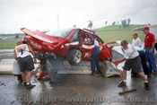 95030 - Mark Skaife still in the Commodore after his crash in practice at Easter Creek 1995 - Photographer Marshall Cass