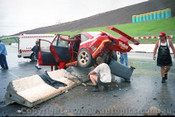 95031 - Mark Skaife's crash in the Commodore in  practice - Easter Creek 1995 - Photographer Marshall Cass