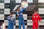 96507 - Danon Hill, Jacques Villeneuve, Williams Renault & Eddie Irvine, Ferrari - Australian Grand Prix Adelaide 1996 - Photographer Marshall Cass