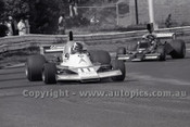 79647 - John  Bowe, Elfin MR8 & Kevin Bartlett, Brabham BT43 - Sandown 9th September 1979 - Photographer Darren House