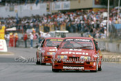 88079 - Dick Johnson & John Bowe Ford Sierra - ATCC Wanneroo April 1988 - Photographer Ray Simpson
