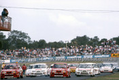 88080 - Start of the ATCC - Johnson, Bowe  Ford Sierra - Wanneroo April 1988 - Photographer Ray Simpson
