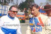 91025 - Sir Jack Brabham & Peter Brock, Eastern Creek 1991 - Photographer Ray Simpson