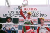 91319 - Wayne Rainey, Mick Doohan & John Kocinski - 500cc Australian Gran Prix  Eastern Creek 1991 - Photographer Ray Simpson