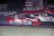 96026 - Neil Crompton & Russell Ingall, Holden Commodore VR  - Eastern Creek 27th January 1996 - Photographer Marshall Cass
