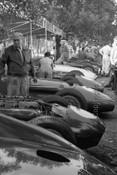 56507 - The Paddock - Australian Grand Prix  Albert Park 1956 -  Photographer Peter D'Abbs