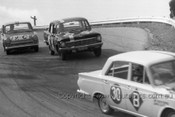 64774 - J. Bonthorne / J. Dando - Ford Cortina GT & R. Skelton / P. Ismay - Holden EH 179 & H. Firth / J. Reaburn - Ford Cortina GT -  Bathurst 1964 - Photographer Lance Ruting