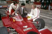 76640 - Jackie Stewart, Max Stewart & Kevin Bartlett - Bathurst 1976 - Photographer Lance J Ruting