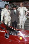 76641 - Jackie Stewart, Max Stewart & Kevin Bartlett - Bathurst 1976 - Photographer Lance J Ruting