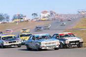 77056 - P.Brock & A.Grice Holden Torana L34 & A. Moffat & J. Goss Falcon XC - Oran Park 1977 - Photographer Lance J Ruting