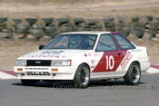 85043 - John Smith, Toyota Corolla - Amaroo 7th July 1985 - Photographer Lance J Ruting