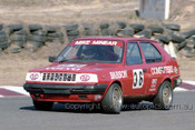 85045 - Mike Minear, Volvo 360 - Amaroo 7th July 1985 - Photographer Lance J Ruting