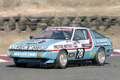 85047 - Brian Sampson, Mitsubishi Starion - Amaroo 7th July 1985 - Photographer Lance J Ruting