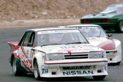 85055 - Gary Scott, Nissan Bluebird - Amaroo 7th July 1985 - Photographer Lance J Ruting