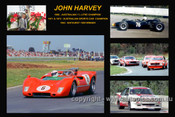 372 - John Harvey - A collage of a few of the cars he drove during his career