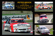 378 - Peter Brock - A collage of a few of the cars he drove during his career