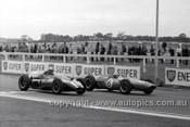 63582 - Bib Stillwell, Brabham & Bryan Thomson, Cooper - Sandown International -  11th  March 1963 - Photographer Peter D'Abbs