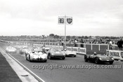 65478 - Start of the Sports Car Race - F. Matich, Lotus 19B / S. Martin, Ferrari 250LM / Ian Geoghegan, Lotus 23B / Ralp Sach, Mildren Maserati - Sandown 1965 - Photographer  Peter D'Abbs