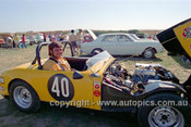 72465 - John Glasper, Austin Healey Sprite  - Phillip Island 1972 - Photographer Peter D'Abbs