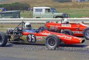 72529 - John Edmonds, Aztec & Murray Coombs, Wren Formula Ford  - Phillip Island 1972- Photographer Peter D'Abbs