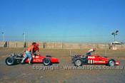 72533 - John Edmonds, Aztec & Paul Feltham, Aztec Formula Ford  - Phillip Island 1972- Photographer Peter D'Abbs