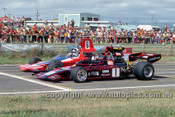 74649 - G. McRae, GM2 & M. Stewart Lola T300 - Tasman Series New Zealand 1974 -  Photographer Jeff Nield