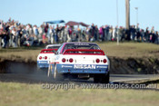 91028  -  Jim Richards & Mark Skaife, Nissan GT-R -  Lakeside 14th July 1991 - Photographer Darren House