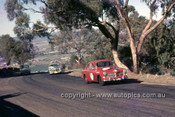 65777 - Grahame Ward & Barry Collerson - Bill Ford & Des West, Volvo 122S - Armstrong 500 Bathurst 1965 - Photographer Ian Thorn