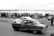 60012 - J. Leighton, Ford Zephyr & Jim McKeown, Holden FX - Geelong Speed Trials 1960 - Photographer Peter D'Abbs