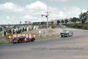 62429 - A. Renyolds & R. Colliston, Morgan - P. Williamson & K. Wightley, Fiat 1500 - Bathurst 12 Hour 30th September 1962 -  Photographer Ian Thorn