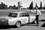 71274 - Mike Jennings, Castro PR Manager with the Jim Smith's Rover - Warick Farm 1971 - Photographer Lance Ruting