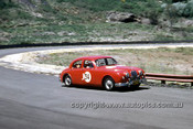 620055 - Bill Burns, Jaguar MK1 - Catalina Park Katoomba  1962 - Photographer Bruce Wells.