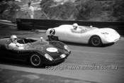 630024 - Frank Gardner & Pete Geoghegan, Lotus 23 - Catalina Park Katoomba  1963 - Photographer Bruce Wells.