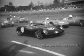 630055 - I. Geoghegan, Lotus 23 / G. Cusack, Elfin / J. Martin, Lola - Warwick Farm 1963 - Photographer Bruce Wells.