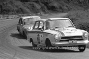 640009 -  Ron Hodgson & John French / Harry Firth & J. Reaburn, Cortina MK1 GT -  Armstrong 500 Bathurst 1964 - Photographer Bruce Wells