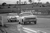 640010 -  Ian Grant & Peter Mitchell, Holden EH 179 / B. Jane & G. Reynolds, Cortina MK1 GT -  Armstrong 500 Bathurst 1964 - Photographer Bruce Wells