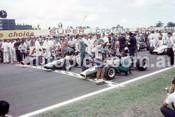 670001 - The Start of the 1967 AGP, Warwick Farm Tasman Series - J. Stewart, BRM / J. Clark, Lotus 33 / G. Hill, Lotus 48 Cosworth FVA  - Photographer Bruce Wells