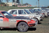 75911 - R. Aaltonen / S. Halloran & A. Cowan / J. Bryson, Galant - Southern Cross Rally 1975 - Photographer David Blanch